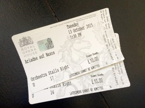 Our £10 tickets!